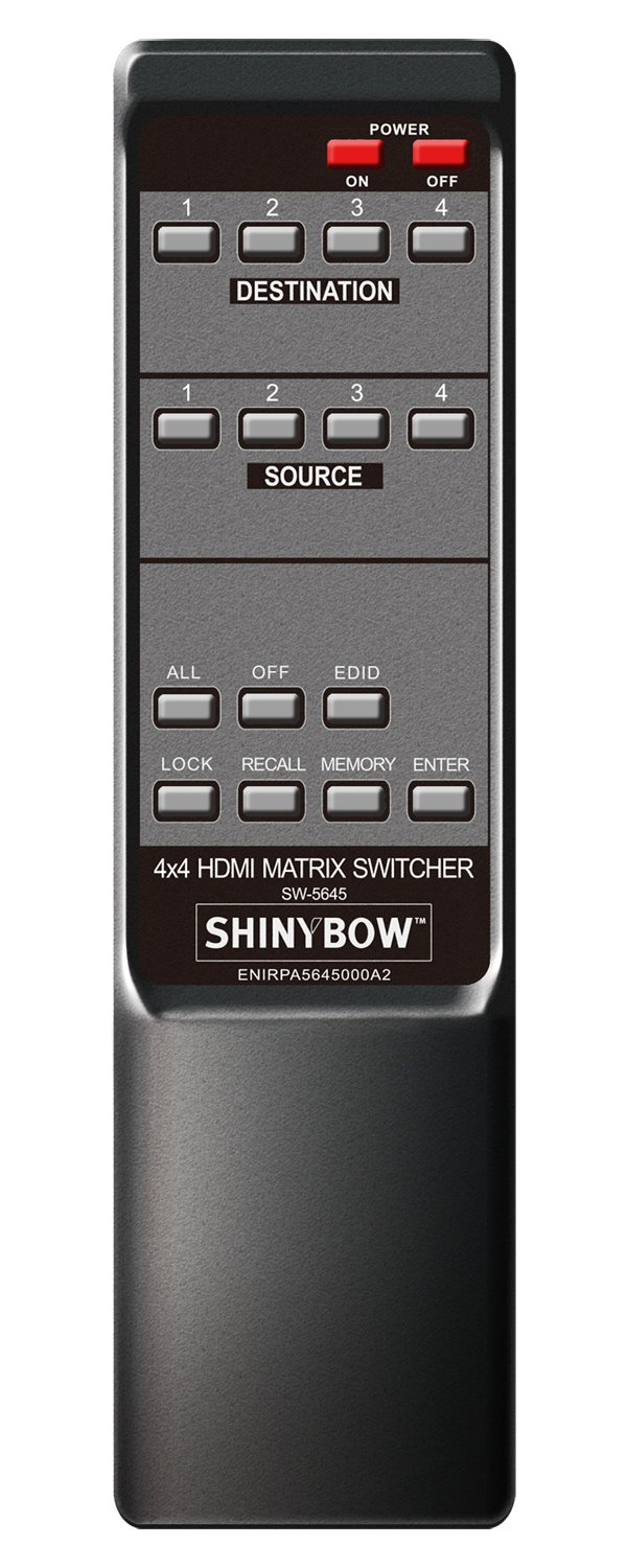 4x4 Hdmi Hdbaset Over Cat 5 6 7 Matrix Switch Switcher Cat5 Wiring On Av Switches Audio Video Extender Sb 5645lcm Ct By Shinybowusa Electronics