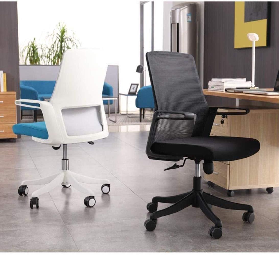 Barstolar Xiuyun kontorsstol spelstol, roterande stolar fritid möbler dator skrivbord stol med justerbar höjd svängbar stol (färg: Vit) Vitt