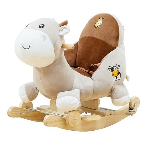 Cavaluccio A Dondolo.Cavallo Dondolo Legno Cavallo A Dondolo 2 In 1 Con Ruote