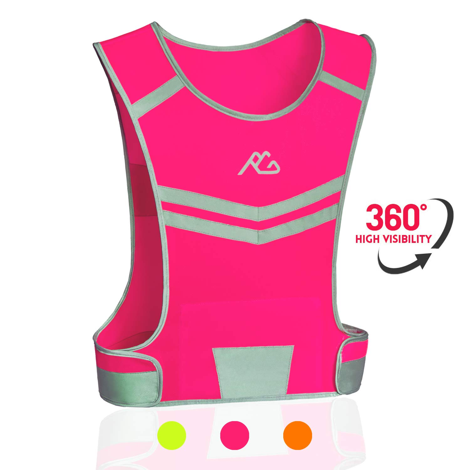 Light /& Comfortable Cycling Motorcycle Reflective Vest,Large Zippered Inside Pocket /& Adjustable Waist,High Visibility Night Running Safety Vest GoxRunx Reflective Running Vest Gear