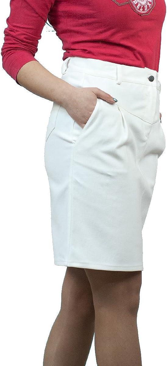 D/écontract/és Boutique Fashion Longueur au Genou Blanc Denim Crayon Jupe EU 36 38 40 42 44 46 48 50