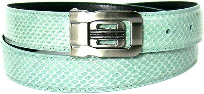 inch waist Mens Purple 1.25 Wide Bonded Snakeskin Belt with Stylish Buckle 32