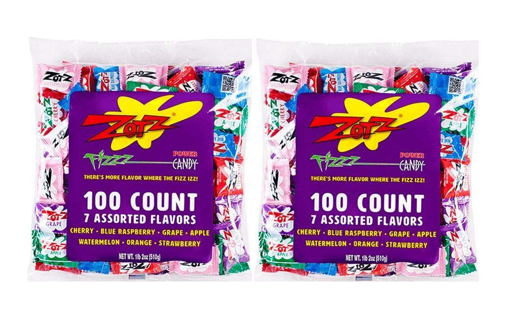 Zotz Fizzy Candy, Assorted Flavors, 200 Count by Zotz