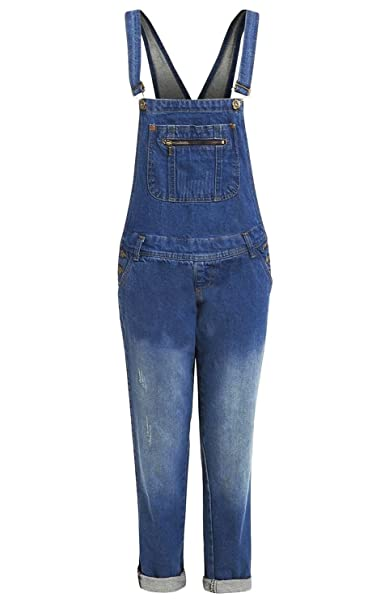 cozy fresh great discount moderate cost shelikes Womens Mid Wash Blue Denim Dungaree Jeans UK 8-20
