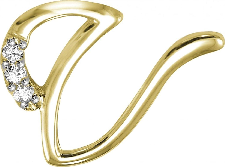 Buy Kiara Womens Silver V Alphabet Design American Diamond Pendant KIP0113 Online At Low Prices In India