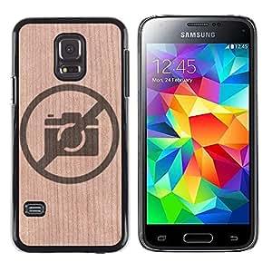 - / No Pictures Camera Prohibited - - Funda Delgada Cubierta Case Cover de Madera / FOR Samsung Galaxy S5 Mini G870a / Jordan Colourful Shop/