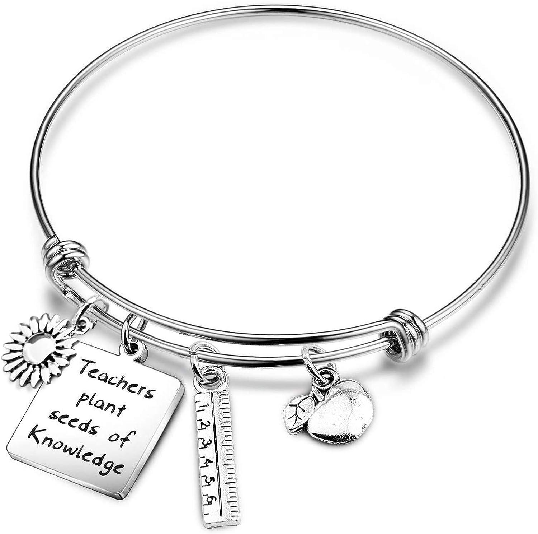 Teacher Appreciation Gift Teacher Gift Teacher Bracelet Charm Bracelet Infinity Bracelet