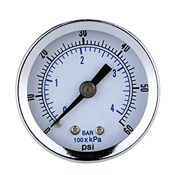 SODIAL 0-60 psi 0-4bar Mini medidor de compresor de aire opcional Calibre de presion hidraulica: Amazon.es: Bricolaje y herramientas