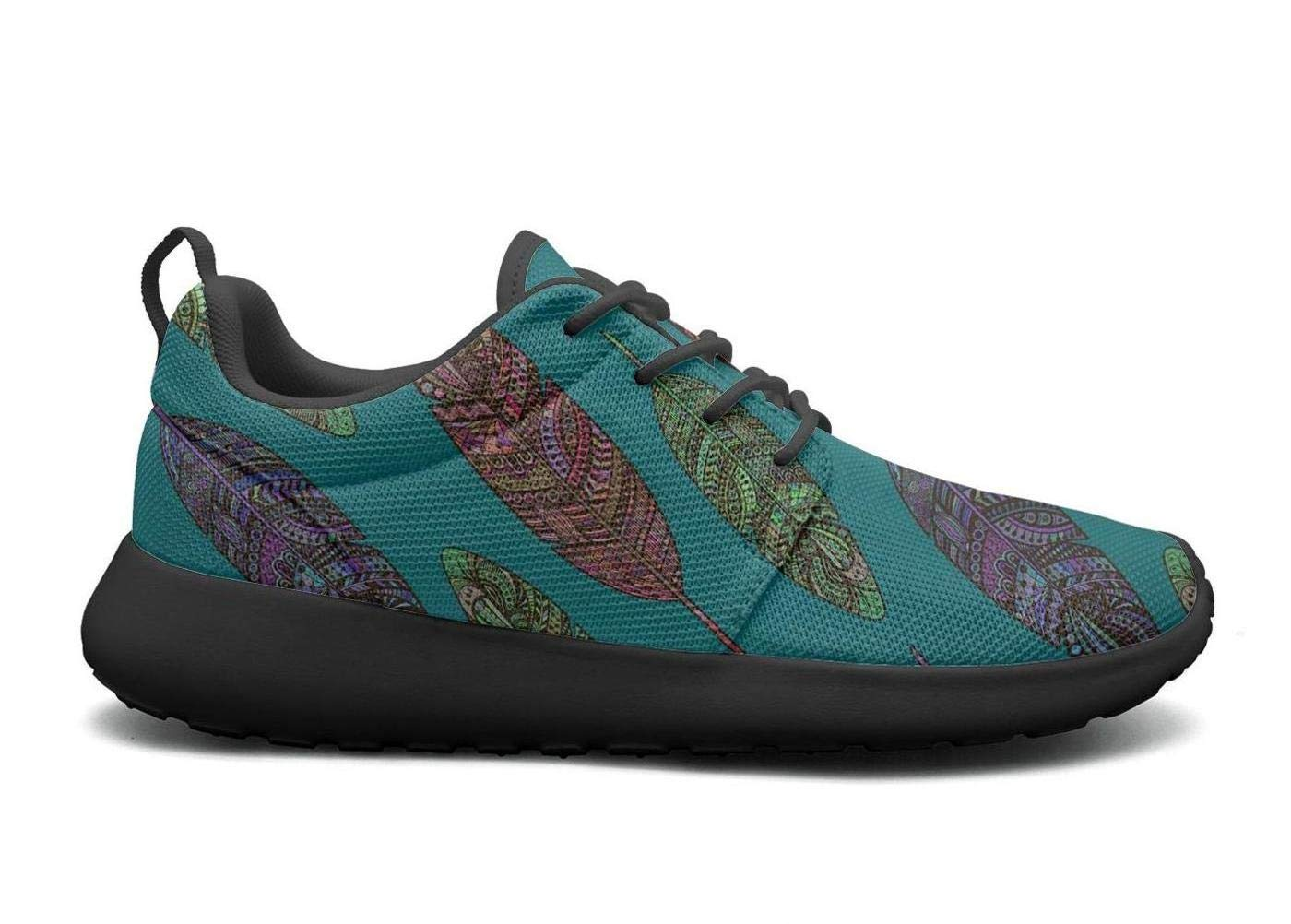 87d6a72e7376 Amazon.com  UISLE7 Feather Vintage Womens Cozy Lightweight Sneakers Running  Shoes Athletic  Sports   Outdoors