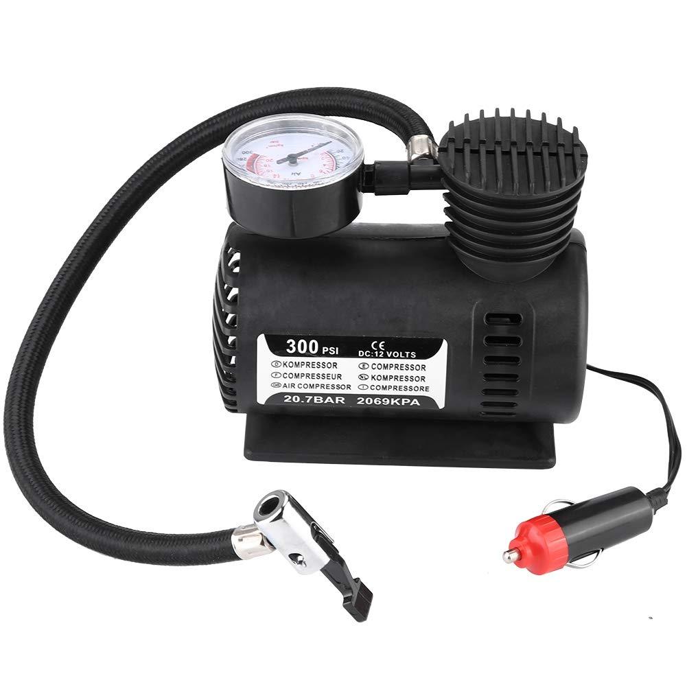 Cuque 12V 300PSI Gonfleur de Pneu de Voiture Pompe /à Air de Voiture en Plastique ABS pour Voiture Moto V/élo