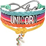 Doctor Unicorn - Cute Unicorn Bracelet Wristband Handmade Rainbow Jewelry Infinity Love Charm Gifts 17 Styles