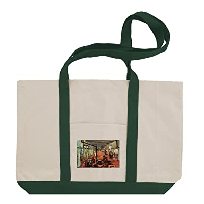 1c296629f959 Ward In The Hospital In Arles (Van Gogh) Cotton Canvas Boat Tote Bag ...
