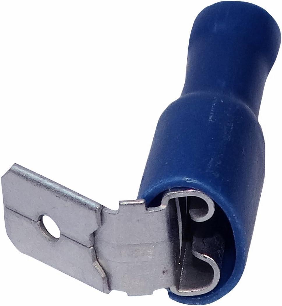 10x Cosse électrique mâle//femelle plate 6.3mm 0.8mm 0.75-1.25mm2 isolé rouge
