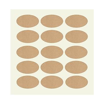 150 Stück Oval 40mmx30mm Blank Kraft Stickeraufkleberetikettensiegel Für Küche Gewürzdosen Und Glasflaschengeschenk Verpackunghochzeitweihnachte