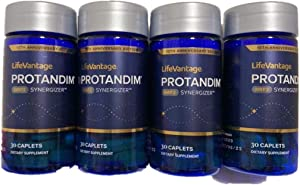 New Version of LifeVantage Protandim Nrf2 120 Caplets (Four Bottles) with Free Gift of iPhone Charge Cable