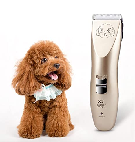Cerámica Cortapelos Profesional para Perros Mascotas Gatos, Electrico Cortapelos Perros con Alta Capacidad Recargable Batería
