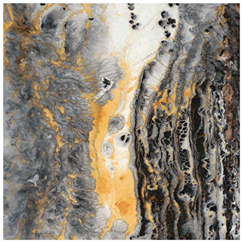 Empire Art Direct Gold Abstract Art,Frameless Tempered Glass Panel,Contemporary Wall Décor Ready to Hang,Living Room,Bedroom & Office, 38 in. x 0.2 in. x 38 in. in,