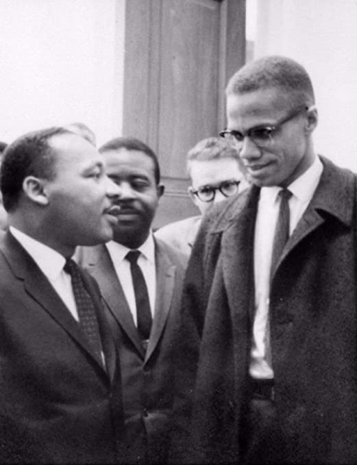 Art Print POSTER CANVAS President Johnson and Martin Luther King Jr.