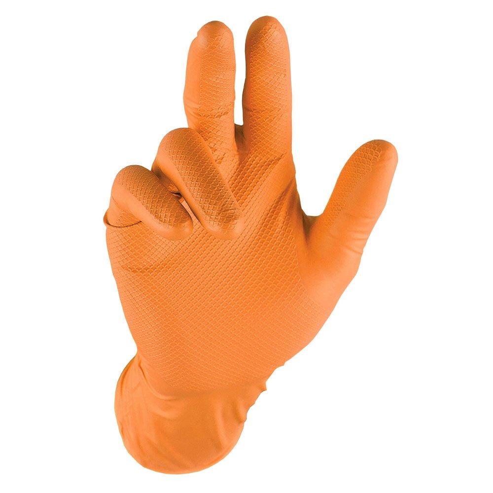 Grippaz QGR-O-L Guanti da Lavoro, Arancione, L, Set di 50 Juba