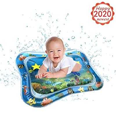 Infants and Toddlers Tummy Time Playmat - Children and Baby Inflatable Baby Water pad Fun Activity Play Center Your Baby's Stimulation Growth - Summer Outdoor/Indoor Toy Game for Newborn Boy Girl (A): Clothing