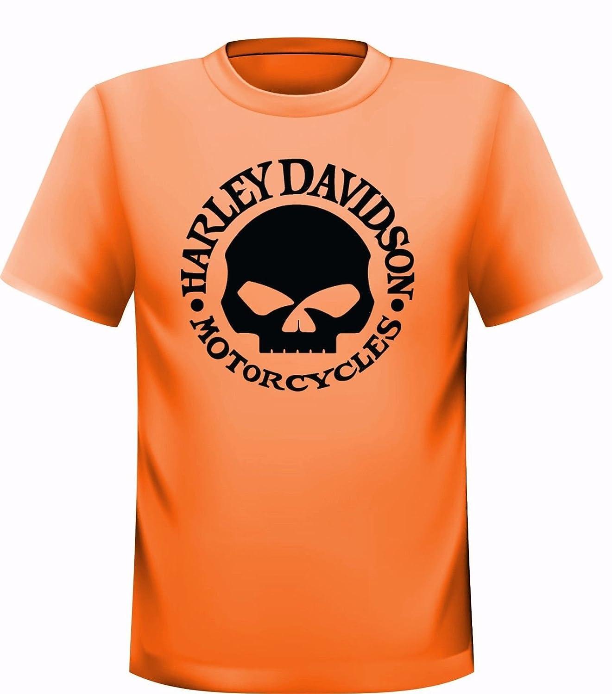 Harley Davidson Skull–Camiseta Streetwall