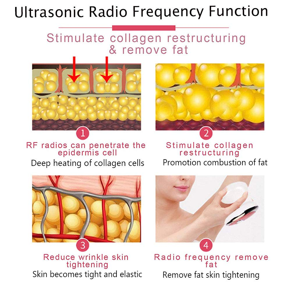 Fat Remove Massager RF Radio Frequency Cavitation Red Light Therepy 3 in 1 Multifunctional Machine for Stomach Arm Body Slimming, Skin Tightening by SPKLANDS (Image #2)