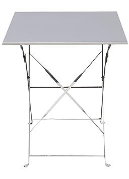 PEGANE Table de Jardin Pliante carrée Coloris Taupe - Dim ...