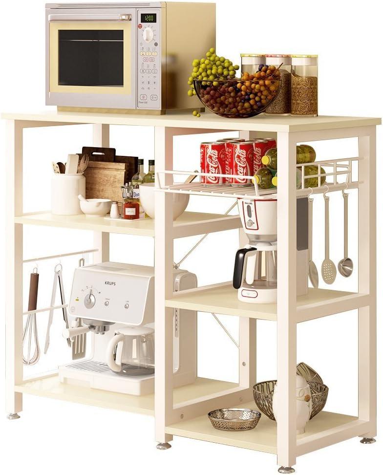 3-tier kitchen baker's rack utility microwave oven stand storage cart workstation.
