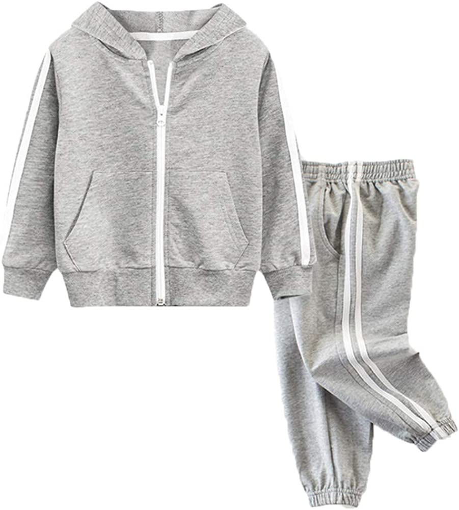 LittleSpring Little Boys Hooded Jacket and Jogging Pants Set 2-8 Yrs