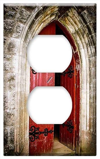 Switch Plate Outlet Cover Church Door Red Door Doorway Bricks Scotland Amazon Com