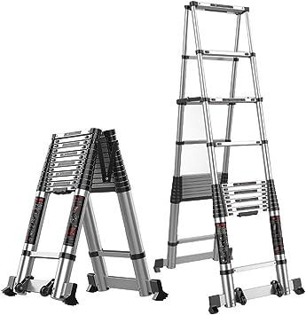 Extensibles Escalera de espiga Escalera de extensión telescópica de aluminio Escalera de ingeniería Escalera plegable portátil para el hogar 5 tamaños (Size : 3.5m+3.5m): Amazon.es: Bricolaje y herramientas
