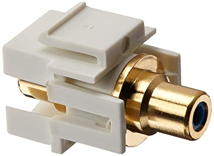 5x Audio Keystone Jack Modular RCA Red Center White Lot Pack