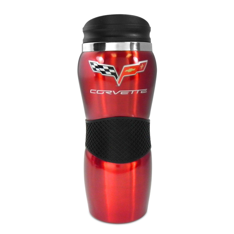 Ralph White Chevrolet Corvette C6 Red Gripper 14oz Travel Mug
