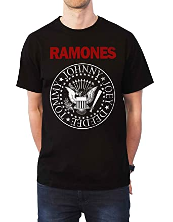 736f7374 Amazon.com: Ramones T Shirt Red Text Presidential Seal Band Logo Official  Mens Black: Clothing