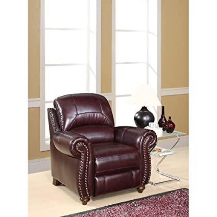 Remarkable Amazon Com Charlotte Leather Club Recliner Kitchen Dining Ibusinesslaw Wood Chair Design Ideas Ibusinesslaworg