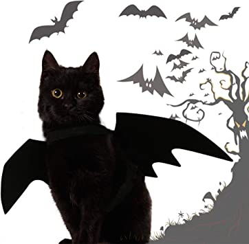 WSJKHY Halloween Bat Wing ropa para gatos cachorros perro ...
