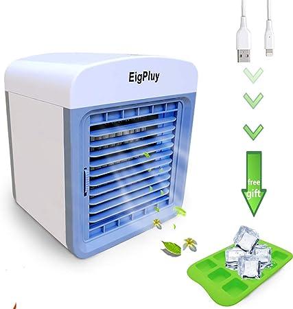 EigPluy Espacio Personal Enfriador de Aire Mini Aire Acondicionado ...