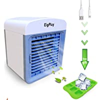 EigPluy Personal Air Cooler 6.5-inch Portable Air Conditioner Fan Small Space Cooler Personal USB Desktop Fan Compact Evaporative Cooler Air Humidifier