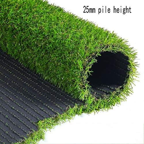 XEWNEG 人工的な草の総合的なカーペットのマット25mmの暗号化のシミュレーションのテラスのバルコニーの装飾、カスタマイズ可能なサイズ (Size : 2x2M)