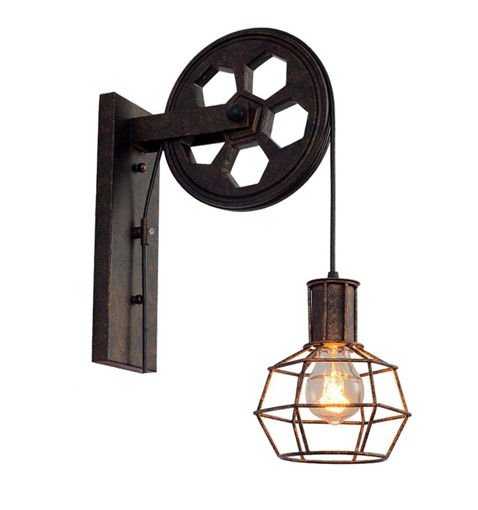 MLeF Persönlichkeit Einfachheit Retro- Wandlampe des Dachbodens Industrieller Wind Restaurantkorridor Gang E27  1 Eleganz Schönheit