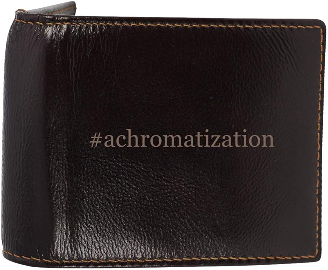 #Achromatization - Genuine Engraved Hashtag Soft Cowhide Bifold Leather Wallet