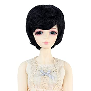 BJD Doll 1//3 9-10 Wig Short Curly High Temperature Fiber For Boy Girl Brown