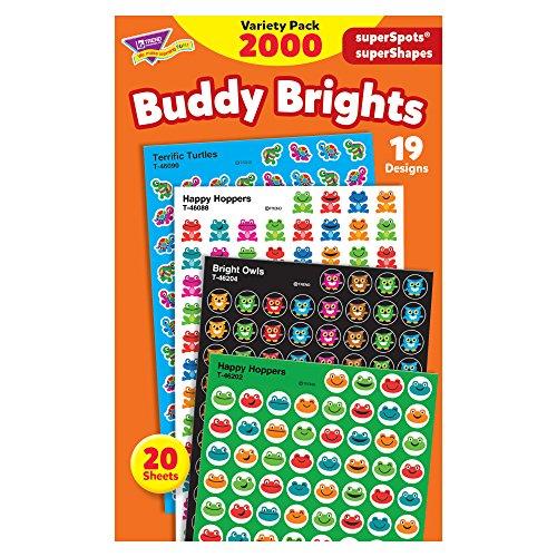 - TREND enterprises, Inc. T-46930 Buddy Brights superSpots/superShapes Variety Pack, 2000/Pack
