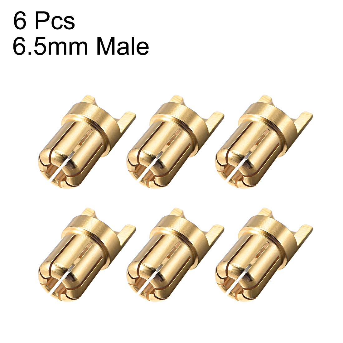 #0240 uxcell 10Pairs 3.5mm Gold Plated Male /& Female Bullets Connectors Plugs 10 Male + 10 Female
