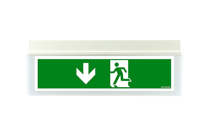 Pfeil nach links Notleuchte LED Notbeleuchtung Rettungszeichenleuchte Fluchtwegleuchte Notlicht Brandschutzzeichen Rettungszeichen