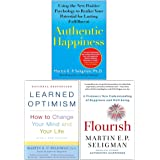 Martin Seligman 3 Books Collection Set (Flourish, Authentic Happiness & Learned Optimism)