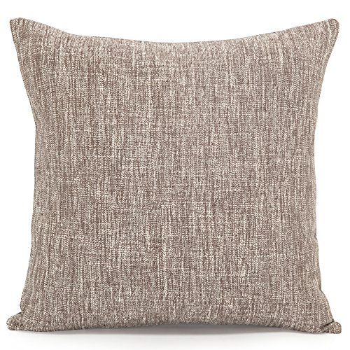 Acanva Decorative Accent Throw Pillow Cushion with Pillowcase Cover Sham & Insert Filling, Large, Solid Slate Grey