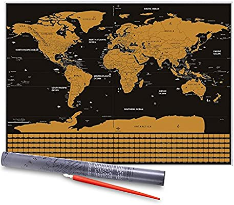 Mapa del Mundo, Vitutech Rasca el Mundo mapamundi para rascar ...