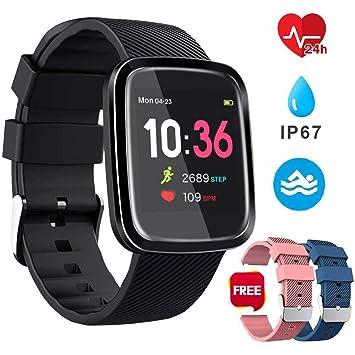 Smartwatch Reloj Inteligente Deportivo Pulsera Actividad Inteligente IP67 Duración Batería 10-15 días 1.3 a Color Cronómetro Podómetro Monitor de ...