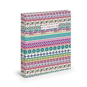 Dis2 - Archivador 4 anillas 3,5 flamenco rosa: Amazon.es: Oficina y papelería